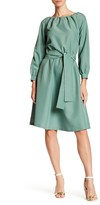 LAURA BETTINI Long Sleeve Ruched Dress