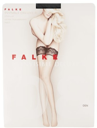 Falke Invisible Deluxe 8 Hold-ups - Black