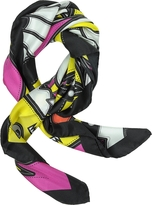 DSQUARED2 Punk Patch Print Twill Silk Square Scarf