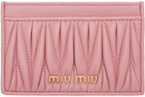 Miu Miu Pink Matelassé Card Holder