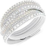 Swarovski White Slake Deluxe Crystal Stud Wrap Bracelet