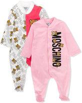 Moschino Kids teddy bear print and logo pyjama set