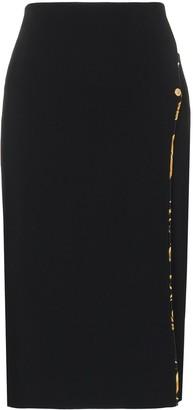 Versace Spliced Midi Skirt