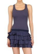 Superdry Ruffled Ribbed Cotton Dress