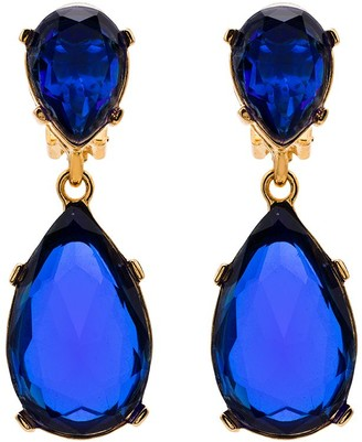 Kenneth Jay Lane Teardrop Clip On Earrings