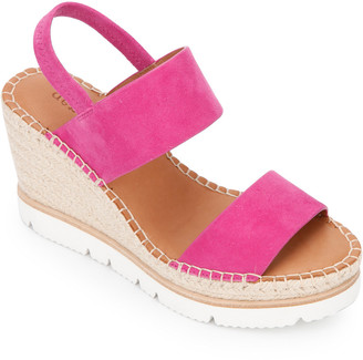 Gentle Souls By Kenneth Cole Elyssa Two-Band Suede Wedge Sandal