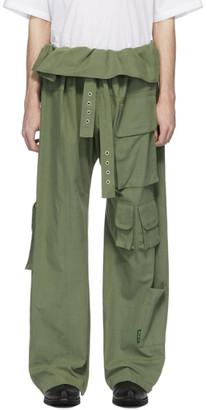 St Henri St-Henri Green Utility Wrap Cargo Pants