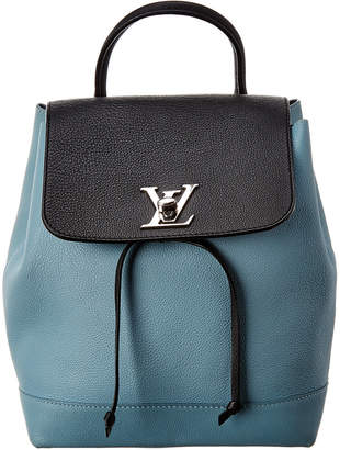 Louis Vuitton Blue Leather Lockme Backpack