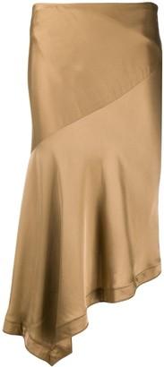 Helmut Lang Asymmetric Midi Skirt