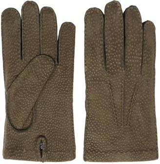 Dalgado Handmade Carpincho Leather Gloves Green Ettore