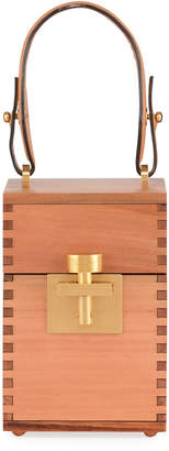 Oscar de la Renta Alibi Wooden Box Top Handle Bag