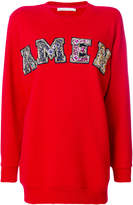 Amen embellished logo sweatshirt