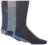 J By Jasper Conran Pack Of Three Grey Striped Socks