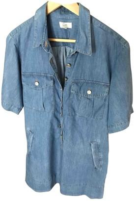 Gerard Darel Blue Cotton Dress for Women