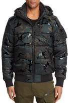 G Star Whisler Camouflage Hooded Bomber Jacket