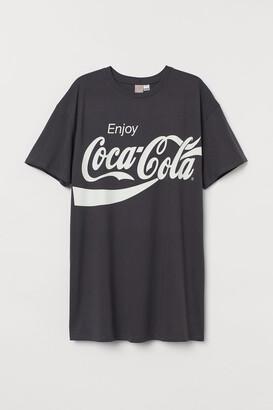 H&M H&M+ Printed T-shirt Dress
