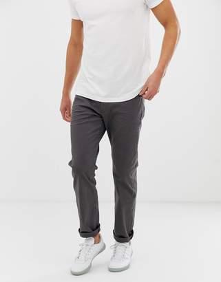Esprit 5 pocket straight fit twill trouser in dark grey
