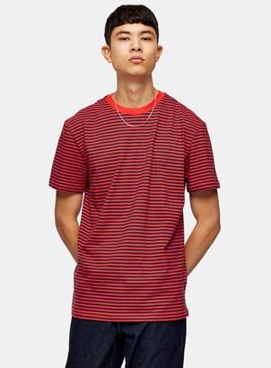 Tommy Jeans TopmanTopman Red Classic Stripe T-Shirt