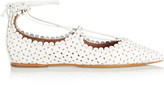 Tabitha Simmons Willa perforated leather point-toe flats
