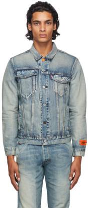 Heron Preston Indigo Levis Edition Denim Trucker Jacket