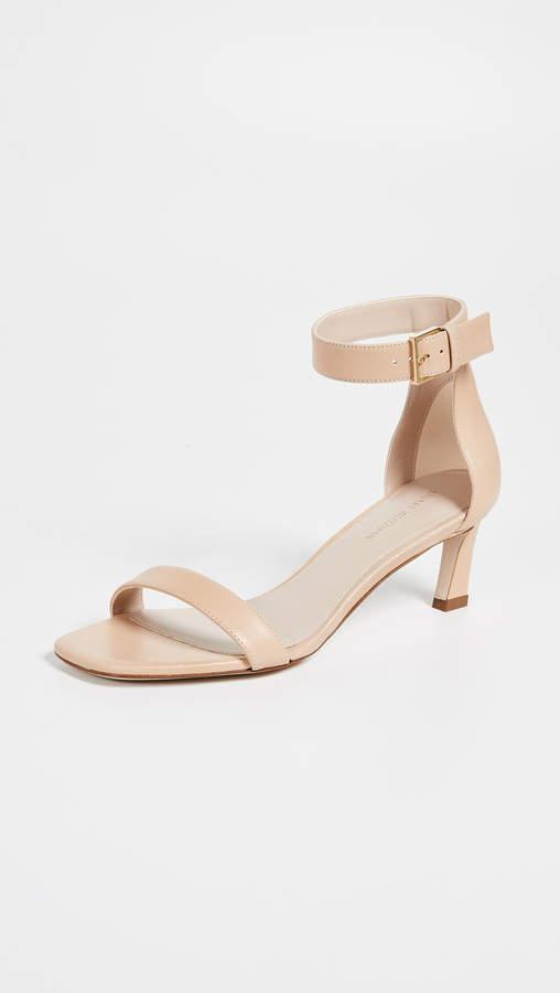 Stuart Weitzman Square Nudist 45mm Sandals
