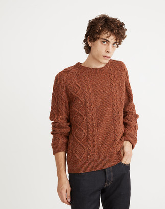Madewell Donegal Cableknit Fisherman Sweater