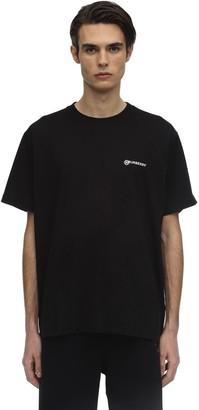 Burberry Oversize Logo Print Cotton T-shirt