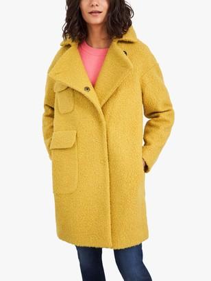 White Stuff Jude Boucle Coat, Mid Yellow