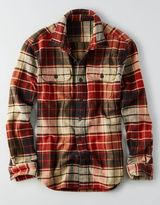 American Eagle AEO Plaid Shirt Jacket