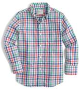 crewcuts by J.Crew Secret Wash Plaid Shirt