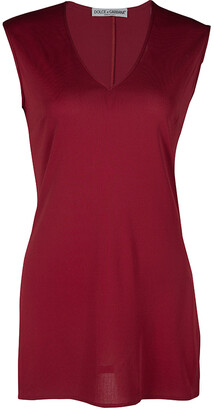Dolce & Gabbana Red Knit Sleeveless V Neck Tunic S