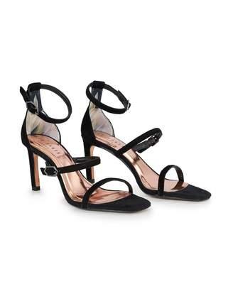 Ted Baker Triple Strap Sandals Colour: BLACK, Size: UK 3