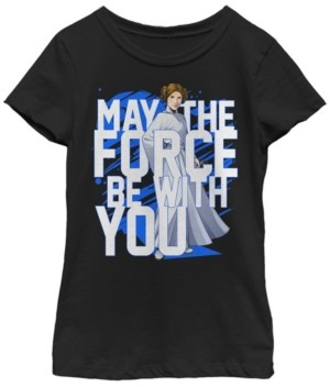 Fifth Sun Star Wars Big Girl's Force Be with You Princess Leia Short Sleeve T-Shirt