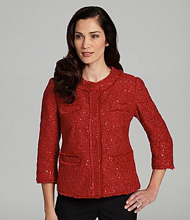 Investments Sequin Boucle Jacket