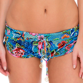 Luli Fama Inked Drawstring Shorts In Multicolor (L515370)