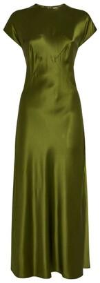 Hanna Fiedler Silk Satin Maxi Dress