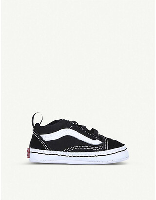 Vans Old Skool canvas and leather trainers 6 months
