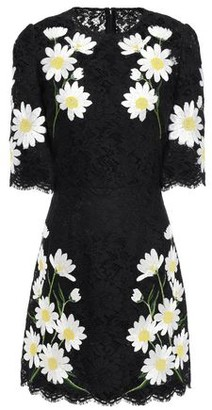 Dolce & Gabbana Embroidered Scalloped Corded Lace Mini Dress