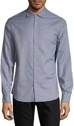Black Brown 1826 Long-Sleeve Spread Collar Shirt