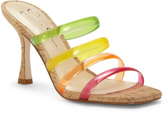 Jessica Simpson Oniela Clear Strap Slide Sandal