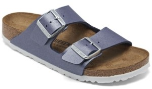 Birkenstock Women's Arizona Birko-Flor Icy Metallic Soft Footbed Sandals from Finish Line