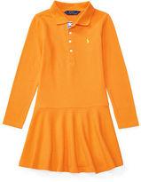 Ralph Lauren Stretch Long-Sleeve Polo Dress