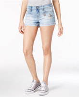 Rampage Juniors' Appliquandeacute;d Denim Shorts