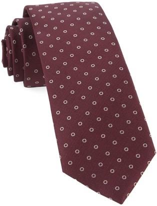 Tie Bar Round Trip Burgundy Tie
