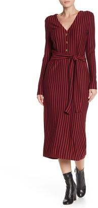 Velvet Heart Lucille Long Sleeve Midi Knit Dress