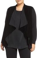 MICHAEL Michael Kors Plus Size Women's Velvet & Stretch Knit Drape Front Jacket