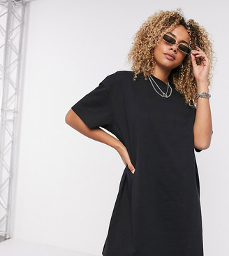 Collusion mini t-shirt dress in black