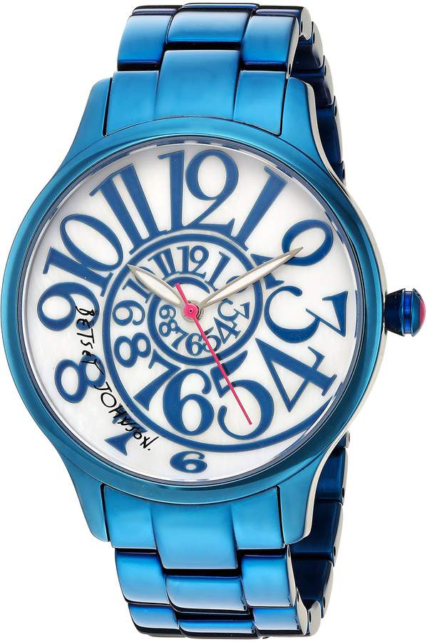 Betsey Johnson Women's Quartz Stainless Steel Casual Watch, Color: (Model: BJ00040-20)
