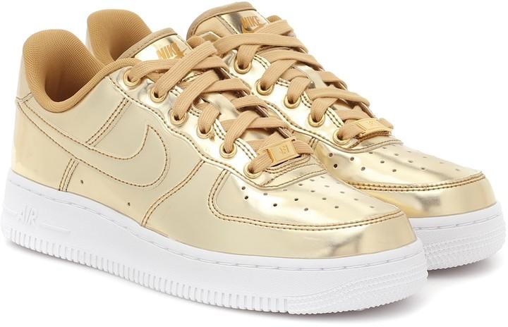 Nike Air Force 1 metallic sneakers