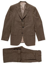 Kiton Wool Herringbone Suit
